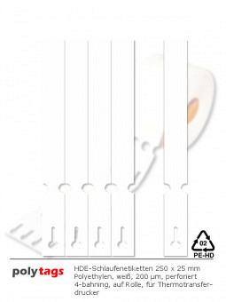 HDPE-Schlaufenetiketten 25251 weiß