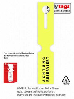 HDPE-Schlaufenetiketten 2650 TTD gelb